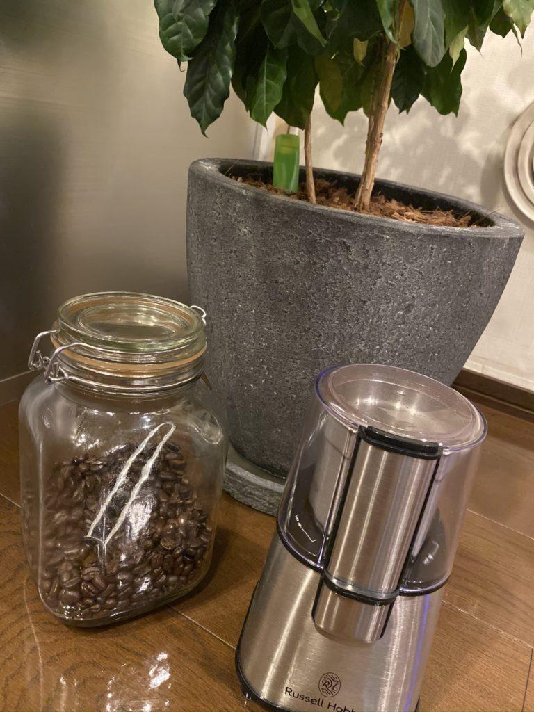 電動のラッセルホブス コーヒーミル